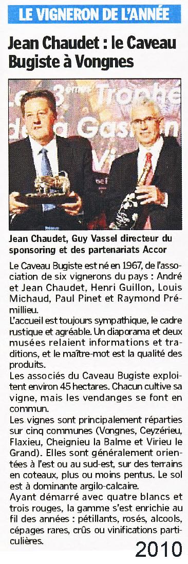 Jean Chaudet : Vigneron de l'année