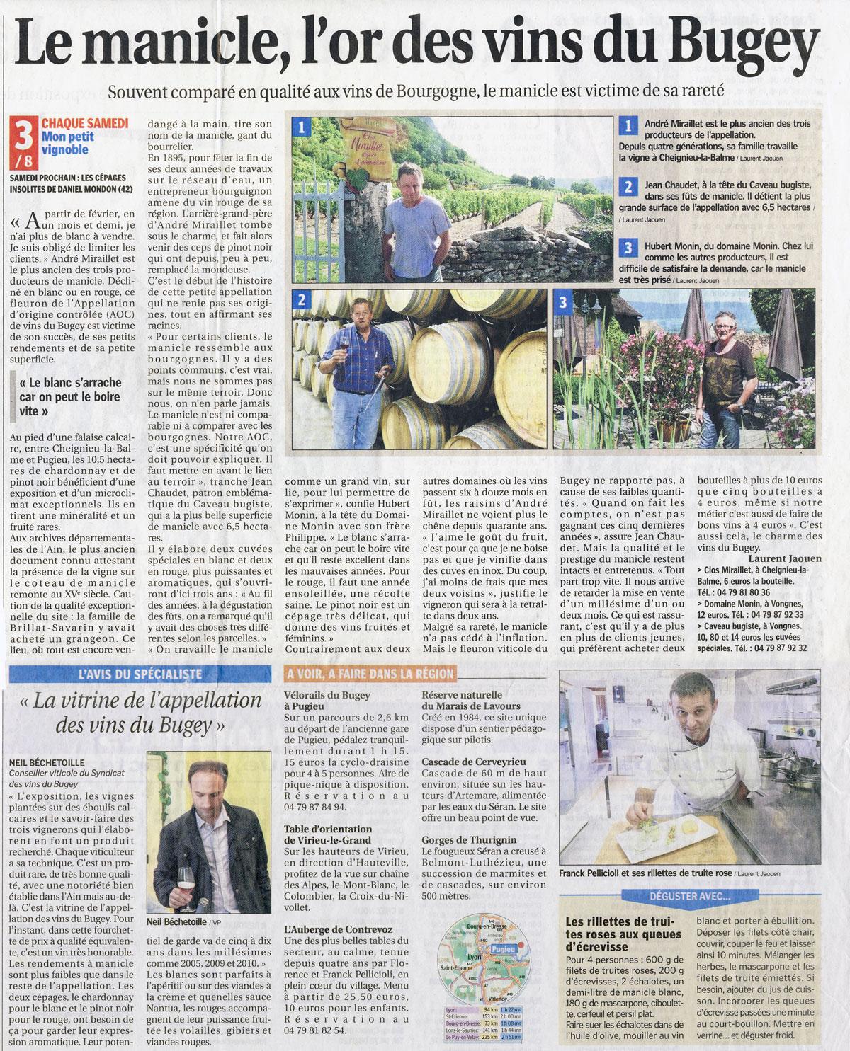 Le Manicle, l'or des vins du Bugey