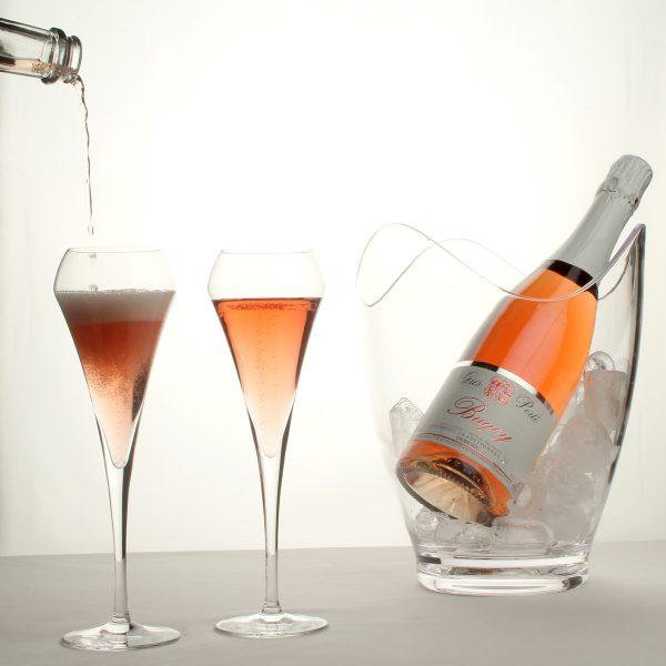 Gris Perlé, pétillant demi-sec rosé