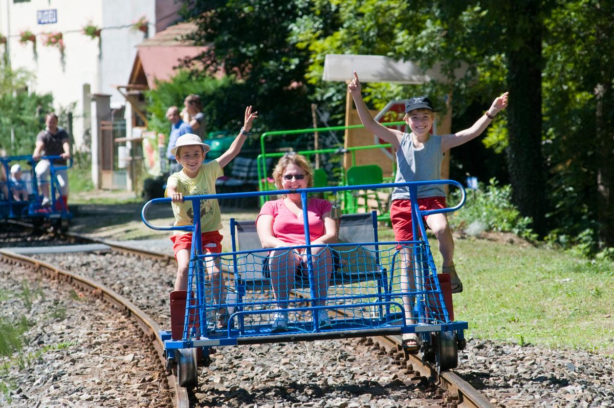 Vélos rails à Pugieu