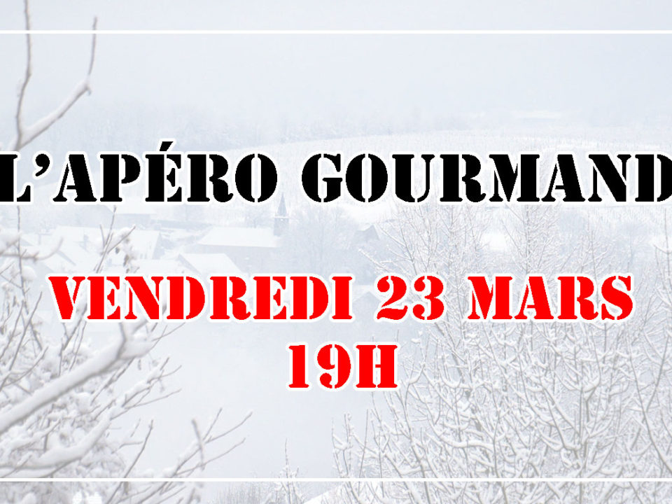 Apéro gourmand le 23 mars