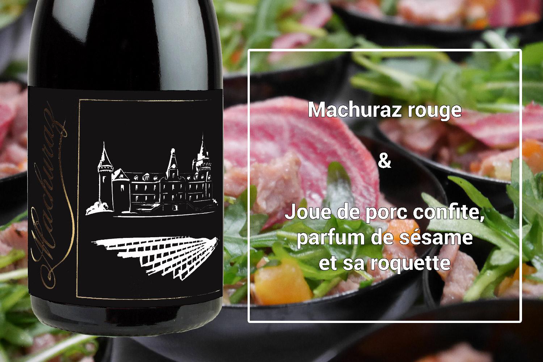 Accord mets & vins Machuraz rouge