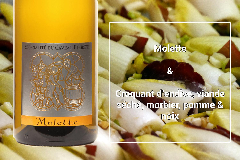 Accord mets et vins Molette