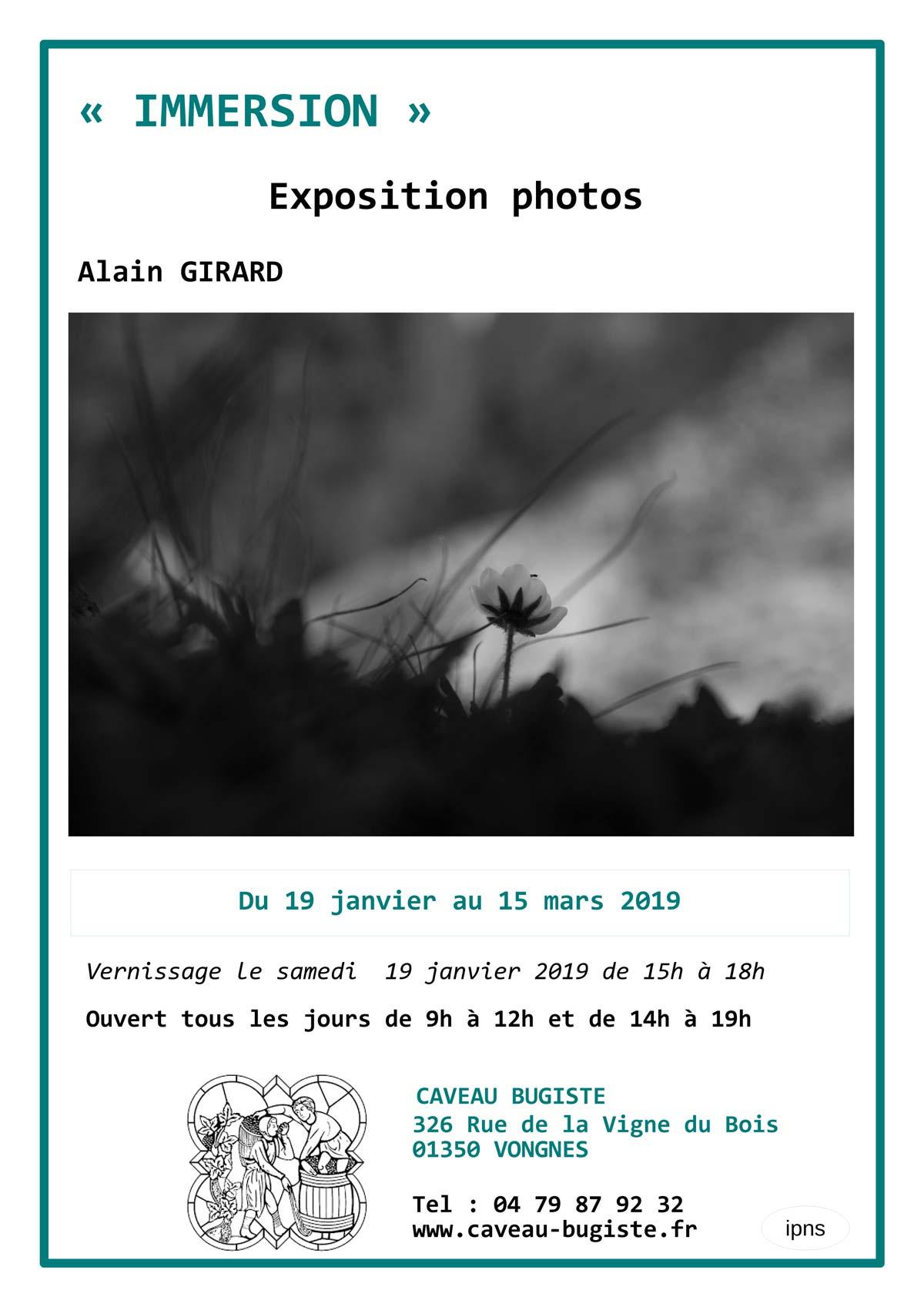 Immersion : exposition de photos de Alain Girard