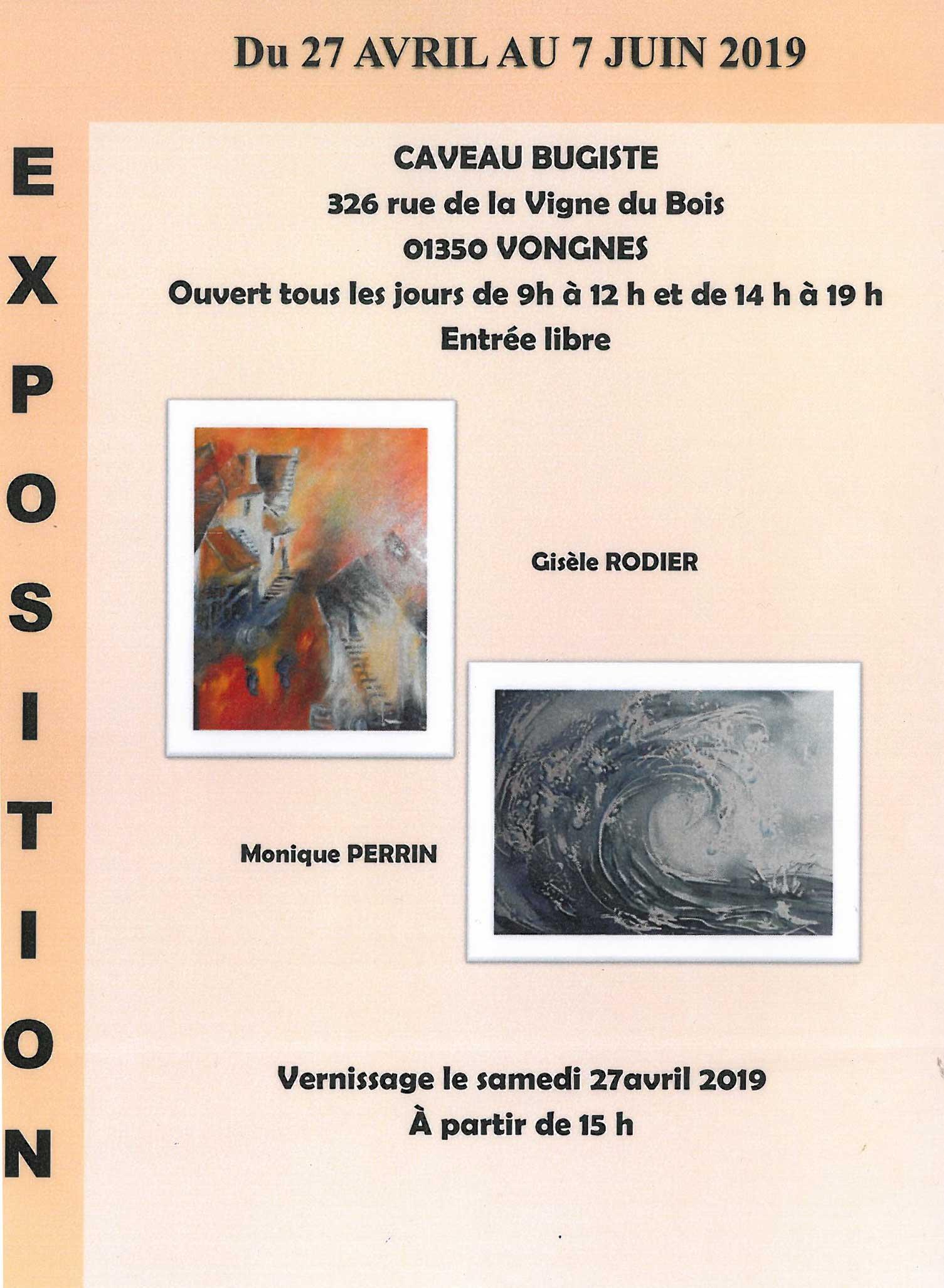 Exposition de peintures de Gisèle RODIER et Monique PERRIN