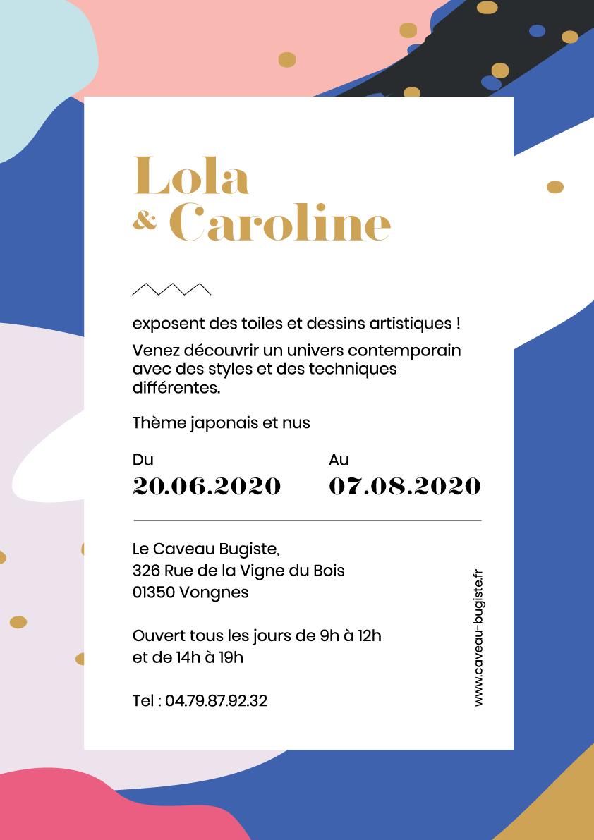 Exposition de Lola & Caroline