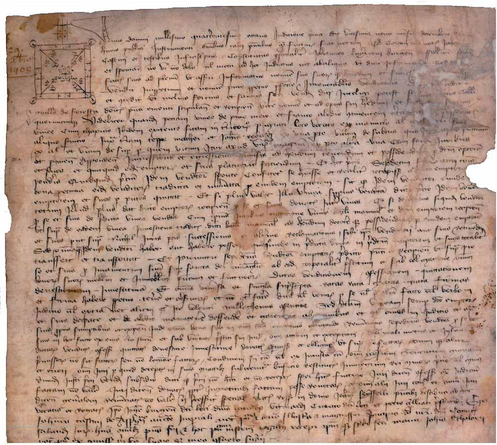 Parchemin conservé aux archives départementales de l'Ain