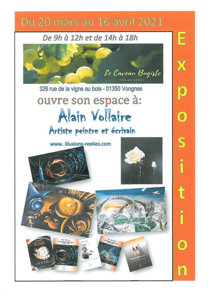 exposition Alain Vollaire, artiste peintre et écrivain