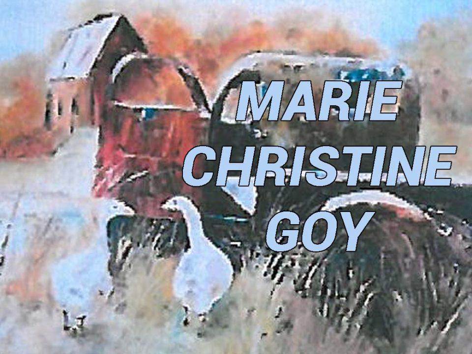 Exposition de peinture de Marie Christine Goy